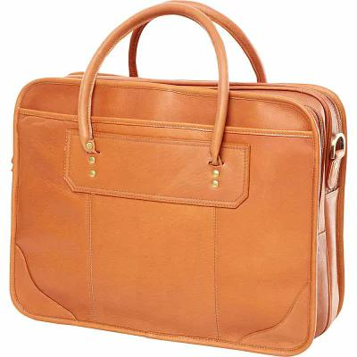 クラヴァ Clava パソコンバッグ Leather Top Handle Laptop Briefcase Vachetta Tan