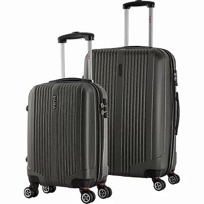 インユーエスエー inUSA Luggage スーツケース・キャリーバッグ San Francisco SL 2-Piece Lightweight Hardside Spinner Luggage Set Charcoal