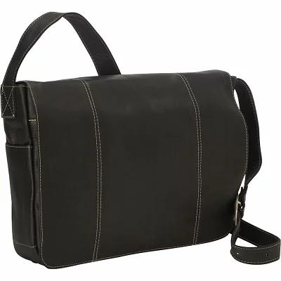 ルイスレザー Royce Leather パソコンバッグ Vaquetta 13 Inch Laptop Messenger Bag Black 36'