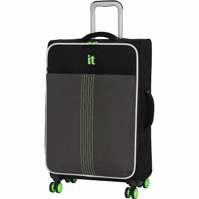アイティ it luggage スーツケース・キャリーバッグ Filament 27.4' Lightweight Expandable Checked Spinner Luggage Black/Dark Gull Grey
