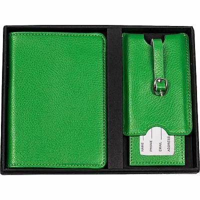 キャシーズ コンセプツ Cathy's Concepts パスポートケース Monogram Passport Case & Luggage Tag Green Plain