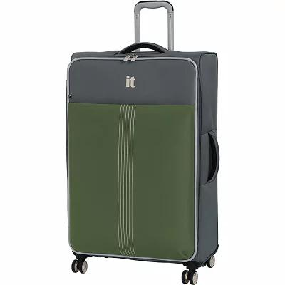 アイティ it luggage スーツケース・キャリーバッグ Filament 31.3' Lightweight Expandable Checked Spinner Luggage Steel Gray/Loden Green