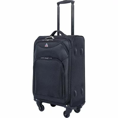 インユーエスエー inUSA Luggage スーツケース・キャリーバッグ Light-Fi Ultra-Light 24' Checked Spinner Luggage Black