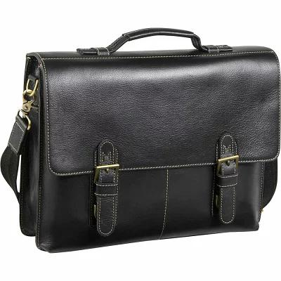 アメリレザー AmeriLeather ビジネスバッグ・ブリーフケース Classical Leather Organizer Briefcase Black