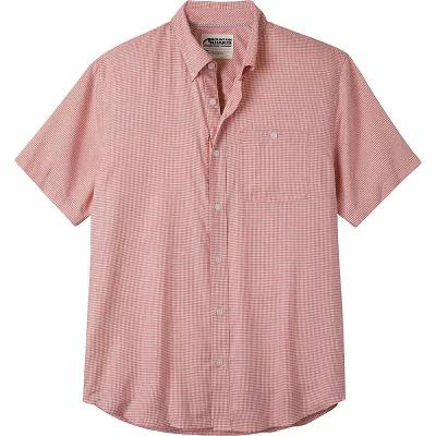 マウンテンカーキス Mountain Khakis 半袖シャツ Passport EC Short Sleeve Shirt Summer Red