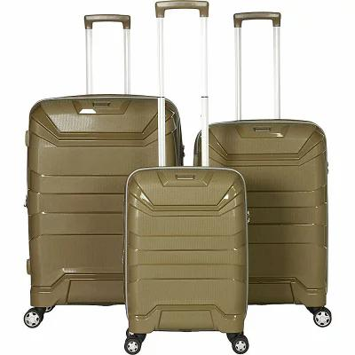 ガッビアーノ Gabbiano スーツケース・キャリーバッグ Casey 3 Piece Expandable Hardside Spinner Luggage Set Khaki