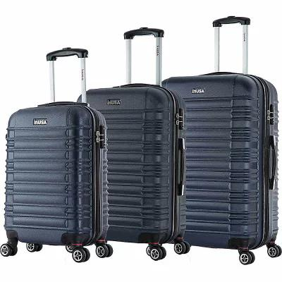 インユーエスエー inUSA Luggage スーツケース・キャリーバッグ New York Collection 3-Piece Lightweight Hardside Spinner Luggage Set Blue