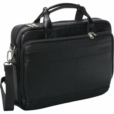 サムソナイト Samsonite パソコンバッグ Leather Slim Laptop Brief Black