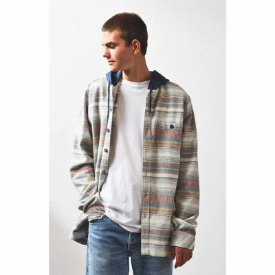 ビラボン Billabong シャツ Baja Stripe Hooded Flannel Shirt STONE
