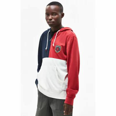 ノーティカ Nautica パーカー Colorblock Quarter Zip Hoodie RED