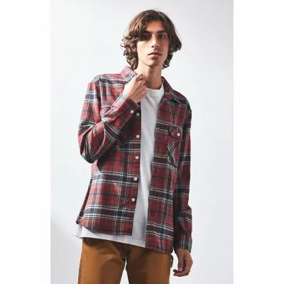 ブリクストン Brixton シャツ Bowery Red Plaid Flannel Shirt RED