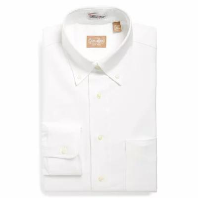 ギットマンブラザーズ シャツ 'Cambridge Oxford' Regular Fit Dress Shirt White