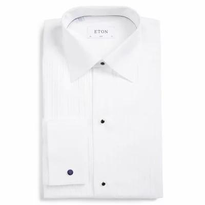 イートン ETON シャツ Slim Fit Pleated Bib Tuxedo Shirt White