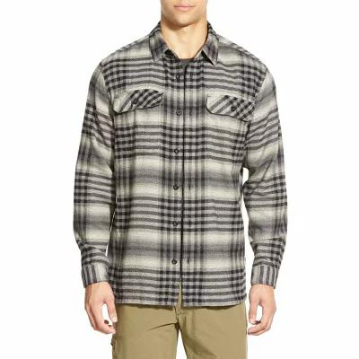 パタゴニア PATAGONIA シャツ 'Fjord' Regular Fit Organic Cotton Flannel Shirt Migration Plaid Small: Black