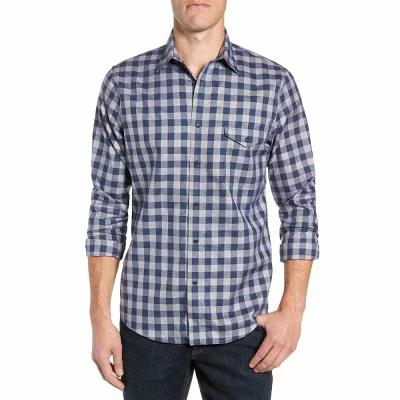ノードストローム NORDSTROM MEN'S SHOP シャツ Regular Fit Non-Iron Check Sport Shirt Navy Armada Jaspe Check