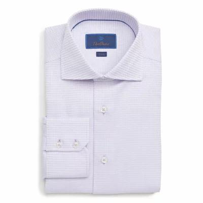 デビッドドナヒュー DAVID DONAHUE シャツ Trim Fit Solid Dress Shirt Lilac
