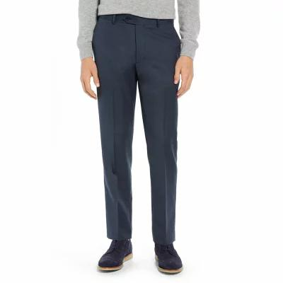 ノードストローム NORDSTROM MEN'S SHOP スラックス Trim Fit Flat Front Wool Blend Pants Navy