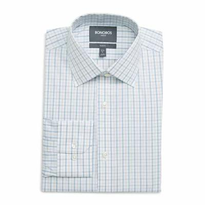 ボノボス BONOBOS シャツ Bower Slim Fit Stretch Check Dress Shirt Blue Jay