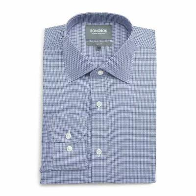 ボノボス BONOBOS シャツ Efford Slim Fit Check Dress Shirt Marine
