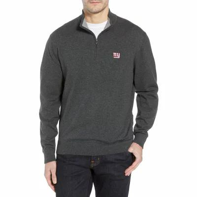 カッター&バック CUTTER & BUCK ニット・セーター New York Giants - Lakemont Regular Fit Quarter Zip Sweater Charcoal Heather
