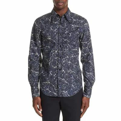 ドリス ヴァン ノッテン DRIES VAN NOTEN シャツ Council Print Sport Shirt Blue