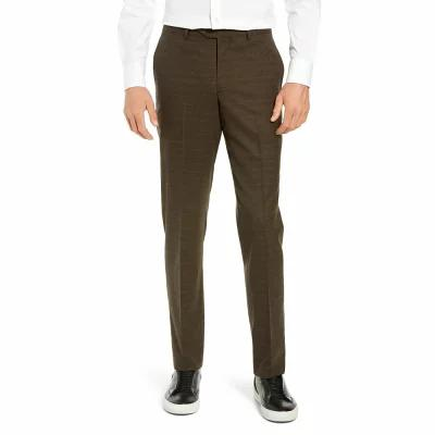 ノードストローム NORDSTROM MEN'S SHOP スラックス Trim Fit Flat Front Stretch Wool Pants Brown