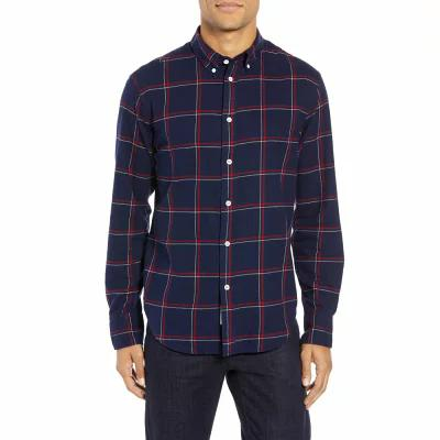 ラグ&ボーン RAG & BONE シャツ Fit 2 Tomlin Slim Fit Sport Shirt Navy/ Red