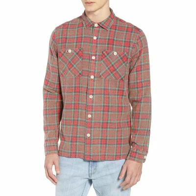 ワックスロンドン WAX LONDON シャツ Whiting Plaid Flannel Shirt Red Check