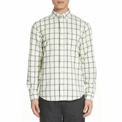 アクネ ストゥディオズ ACNE STUDIOS シャツ Isherwood Linen Cotton Check Sport Shirt White/Green