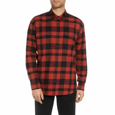 ヴィンス VINCE シャツ Regular Fit Buffalo Plaid Sport Shirt Brick