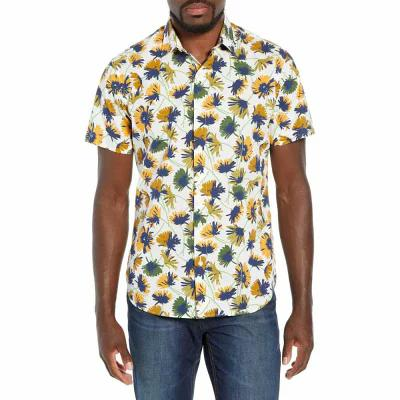 ボノボス BONOBOS シャツ Premium Slim Fit Floral Print Sport Shirt Graydon Floral - Curry