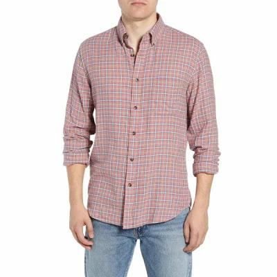 ファレティ FAHERTY シャツ Pacific Check Organic Cotton Sport Shirt Heather Red Multi