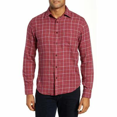 ファレティ FAHERTY シャツ Ventura Windowpane Sport Shirt Heather Crimson Windowpane