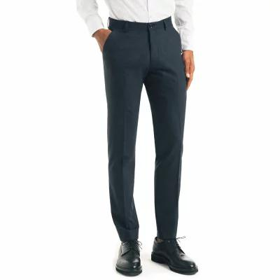 グッドマンブランド GOOD MAN BRAND スラックス Flat Front Stretch Wool Trousers Navy