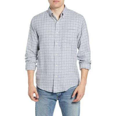 ファレティ FAHERTY シャツ Pacific Check Sport Shirt Heather Grey Windowpane