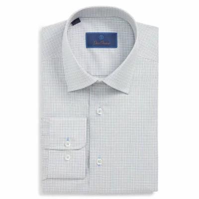 デビッドドナヒュー DAVID DONAHUE シャツ Regular Fit Check Dress Shirt Stone