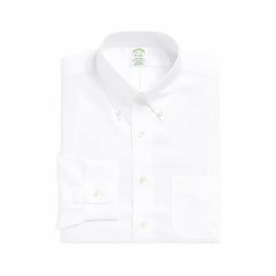 ブルックス BROOKS BROTHERS シャツ Trim Fit Solid Dress Shirt White