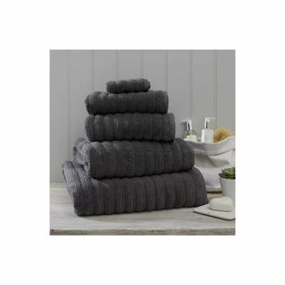 ザ ホワイト カンパニー THE WHITE COMPANY タオル Ribbed Hydrocotton Bath Towel Slate