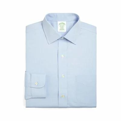 ブルックス BROOKS BROTHERS シャツ Trim Fit Solid Dress Shirt Light/ Pastel Blue