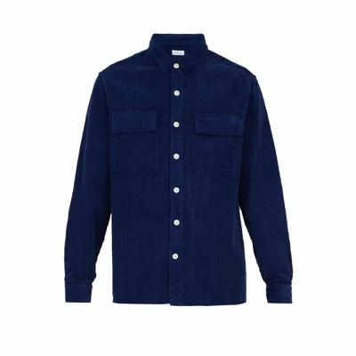 サタデーニューヨーク Saturdays NYC シャツ Magnus cotton-corduroy overshirt Navy