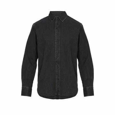 ラグ&ボーン Rag & Bone シャツ Fit 3 single-cuff denim shirt Black