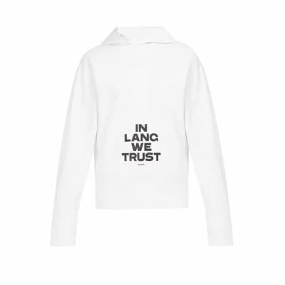 ヘルムート ラング Helmut Lang パーカー Standard printed cotton hooded sweatshirt White