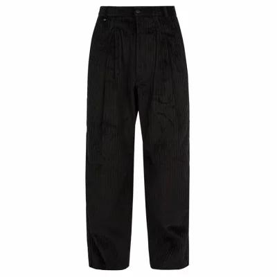 ブレス Bless その他ボトムス・パンツ Wide-leg cotton-blend corduroy trousers Black