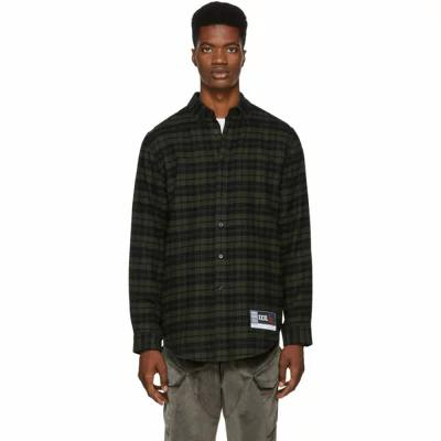 アレキサンダー ワン Alexander Wang シャツ Green & Black Flannel Player ID Classic Shirt