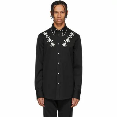 ディースクエアード Dsquared2 シャツ Black Wool Chic Western Shirt