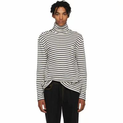 ロエベ Loewe ニット・セーター Black & White Sailor Stripe Turtleneck