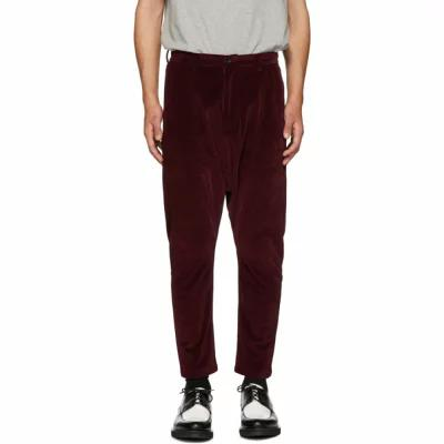 D BY D その他ボトムス・パンツ Burgundy Dropped Inseam Trousers
