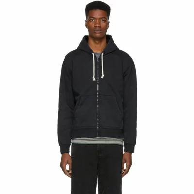 ジョン エリオット John Elliott パーカー Black Replica Full Zip Hoodie