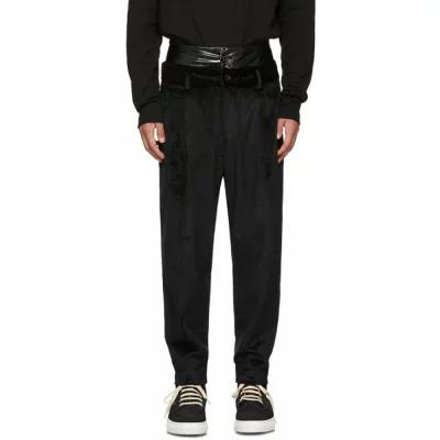 D BY D その他ボトムス・パンツ Black Double Waist Velvet Trousers