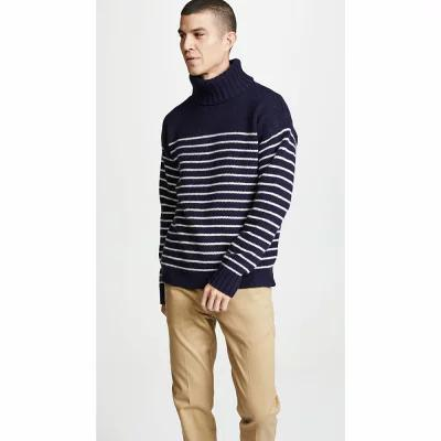 ラルフ ローレン Polo Ralph Lauren ニット・セーター Long Sleeve Stripe Turtleneck Navy/Cream